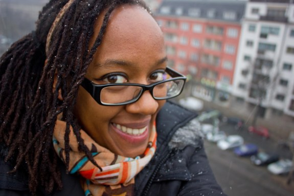 All smiles, with snow in my dreadlocks and a twinkle in my eye!