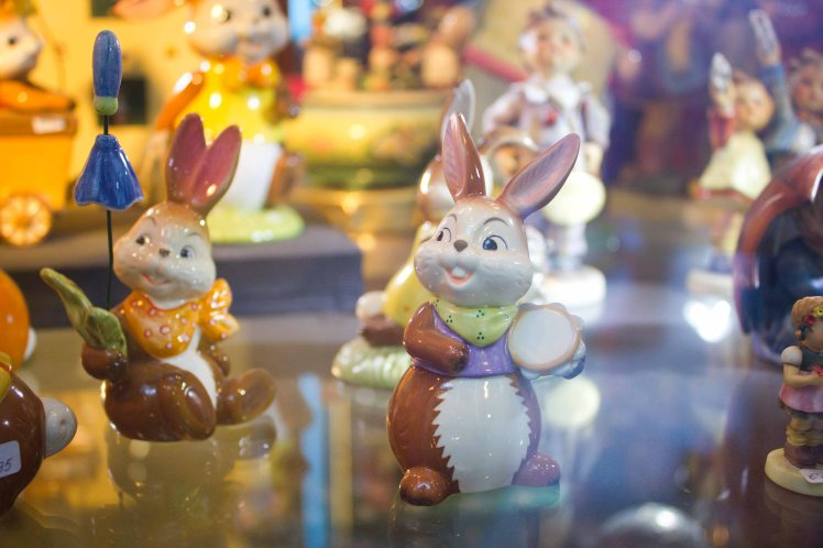 In the Easter spirit, there were lots of cute bunnies in most shop windows