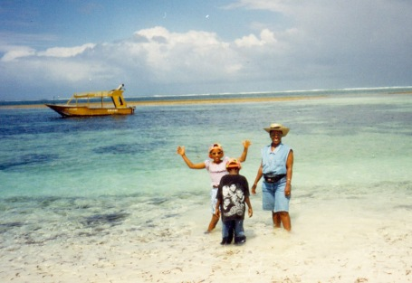 "Kodak moments; Family holiday in Mombasa back in 1998, and yes, thats me rocking my 90's swag with the backwards cap, plastic sunglasses and my arms up like ""can you dig it?!"""