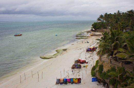 Nyali Beach, a little cloudy, but still beautiful