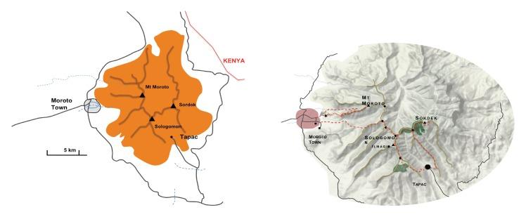 Moroto mountain trails © Mountain Club of Uganda