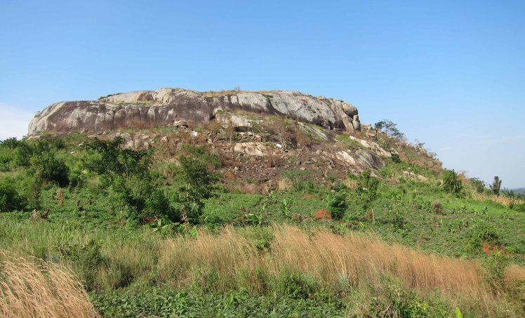 The Luwazi Rock face