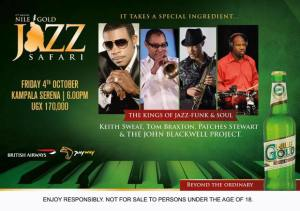 Nile Gold Jazz Safari 2013 final poster