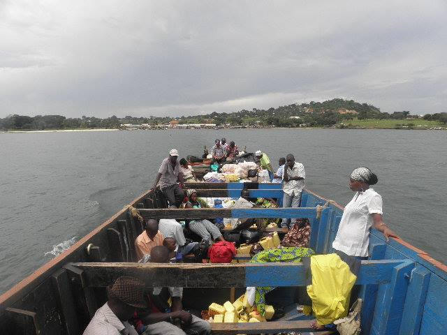 A slow 4 hour ride across Lake Victoria in a public boat along side some chickens, packs of groceries and sweaty people was an adventure of its own!